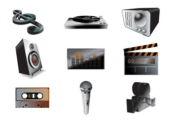 music/audio icon set
