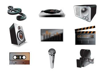 music/audio icon set