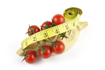 Tomatoes and Pasty with Tape Measure