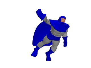 cartoon character in flight