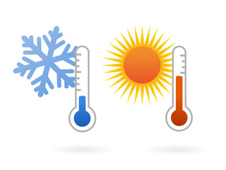 hot and cold temperature symbols