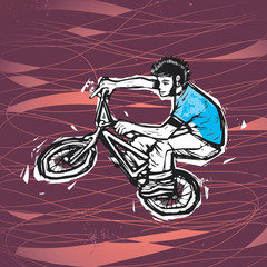 BMX extreme rider