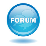 FORUM Web Button (Internet Blog Site Chat Opinion Vector Shadow) poster