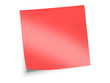 red sticky note