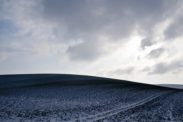 evening hill in winter