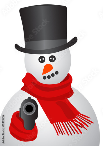 Gangster snowman