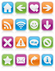 Glossy Web Symbol Squares