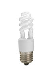 energy-saving bulb on white background.