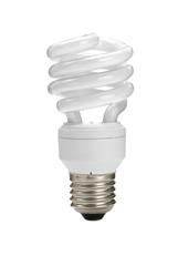 energy-saving bulb on white background.