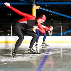 Speed skating match