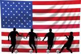 Soccer- Fussball WM Team USA poster