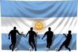 Soccer- Fussball WM Team Argentinien poster