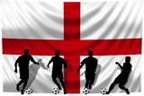 Soccer- Fussball WM Team England poster