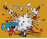 Comic book explosion - crash
