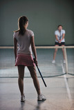 two woman tennis