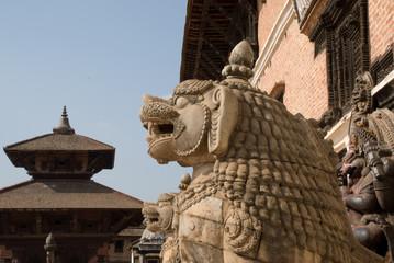 Lion statue in Bhaktapur,Nepal