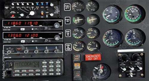 Foto op Plexiglas Helicopter Cockpit d'hélicoptère
