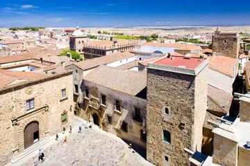 Plaza de Santa Maria, Caceres, Extremadura, Spain