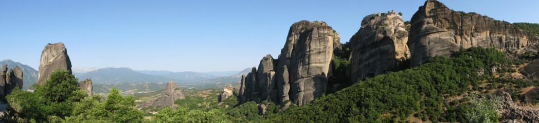 Panorama of the Meteora monasteries.