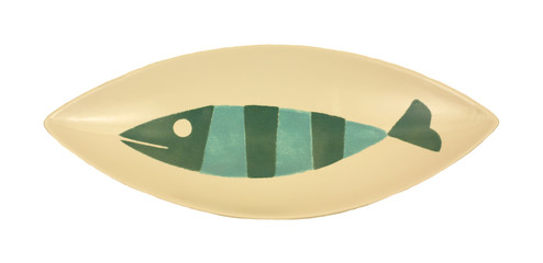 Overhead view fish platter