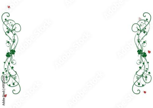 leinwanddruck bild gabriella88 kleeblatt ornamente mit marienk fer rahmen wandbilder. Black Bedroom Furniture Sets. Home Design Ideas