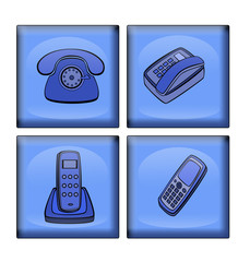 variants  of  telephone  in the manner of    icons