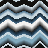 Seamless texture with art 3d zigzag line poster