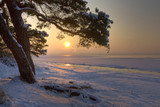 Fototapety Winterabend am Strand