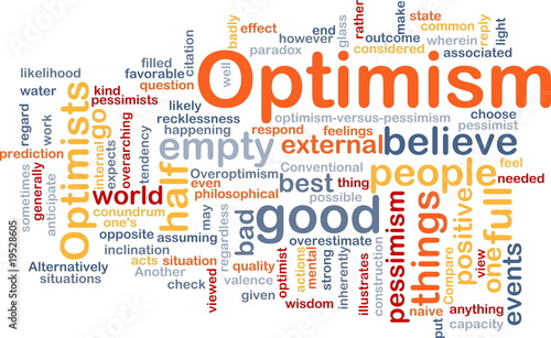 Optimism word cloud