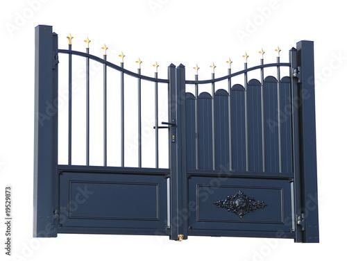 portail d 39 entr e photo libre de droits sur la banque d 39 images image 19529873. Black Bedroom Furniture Sets. Home Design Ideas