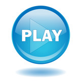 PLAY Web Button (Video Watch View Media Film Clip Live See Now) poster