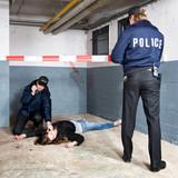 Securing a crime scene poster