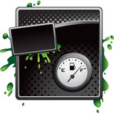 gas icon black halftone grungy template poster