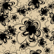 Seamless vintage beige pattern with flowers
