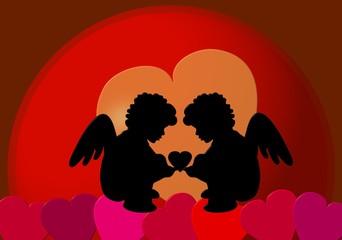 Zwei Engel der Liebe