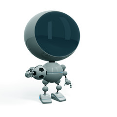 Robot football player