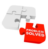 Puzzle Pieces - Problem Solved poster