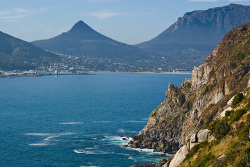 Rugged coast and mountains near Capetown, South Africa