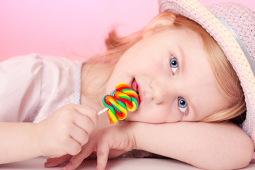 girl with lollipop