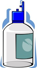 Illustration of syrup with bottle and tonic