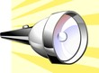 Illustration of torch with colour background