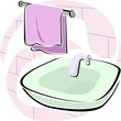 Illustration of sanitary and towel