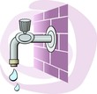 Illustration of tap with water drops