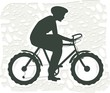 Illustration of boy cycling