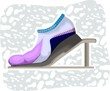 Illustration of sports shoe