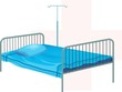 Illustration of bed and trip stand	Health,