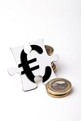 Euro-Münzstapel