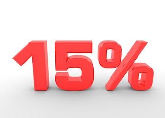 Fünfzehn Prozent