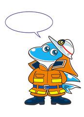 消防士のキャラクター02(イルカ)