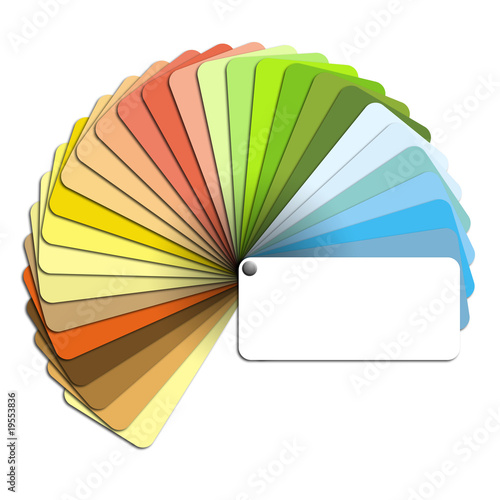 Colour chart - Spring type